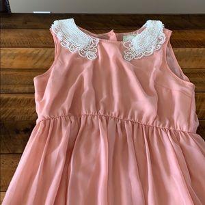 Alythea Pink Beaded Neck Dress M